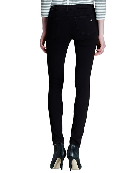 e93295723215c8 rag & bone/JEAN The Legging Jeans, Black Plush | Neiman Marcus