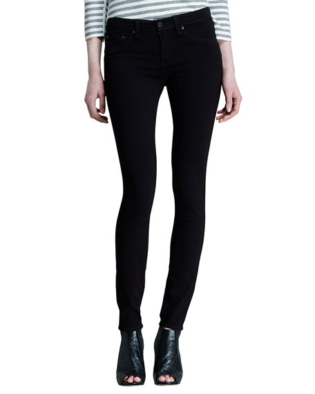 Image 1 of 2: The Legging Jeans, Black Plush