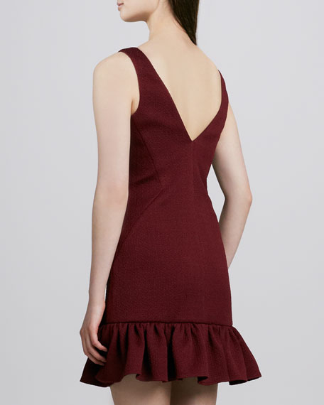 Aurora Ruffle-Hem V-Back Dress