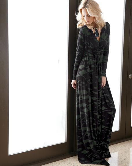 Pine Reflection Long Caftan Dress, Women's