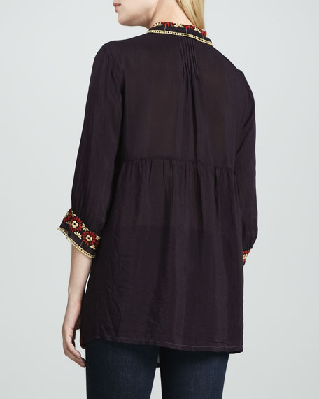 Artisan Embroidered Tunic, Plus Size