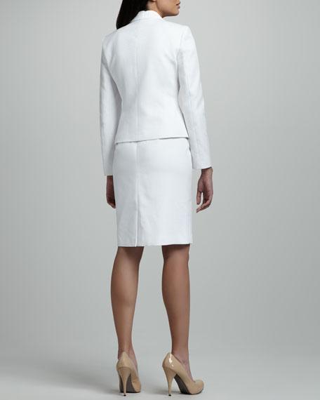 Three-Button Pique Skirtsuit
