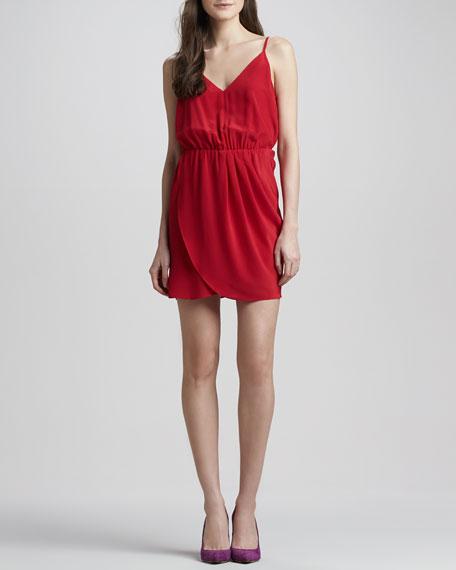 Madison Silk Tulip-Skirt Dress