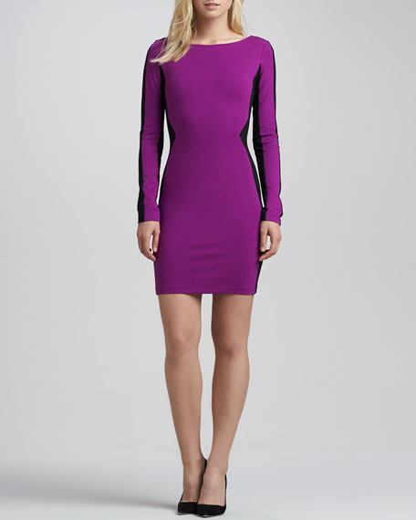 Two-Tone Paneled Illusion Dress