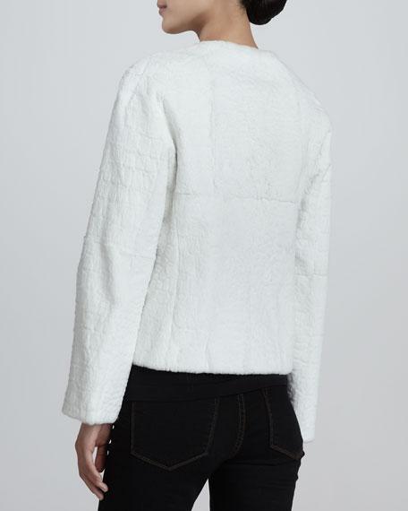 Textured Rabbit Fur Coat