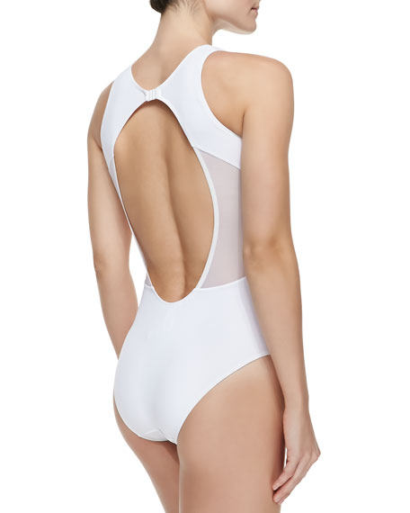 Elvira Sheer Wrapped One-Piece Swimsuit