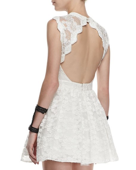 Vendela Cutout-Back Lace Dress