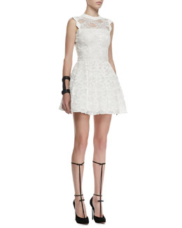 Alexis Vendela Cutout-Back Lace Dress