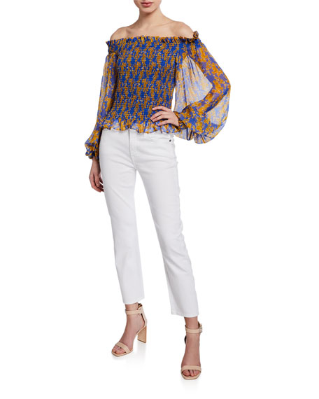 Image 3 of 4: 7 for all mankind Kimmie Straight-Leg Cropped Jeans, Clean White