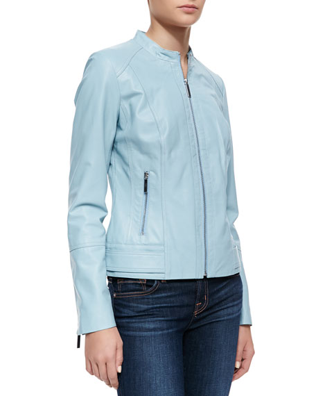 Tiered Sleeve Jacket, Light Blue