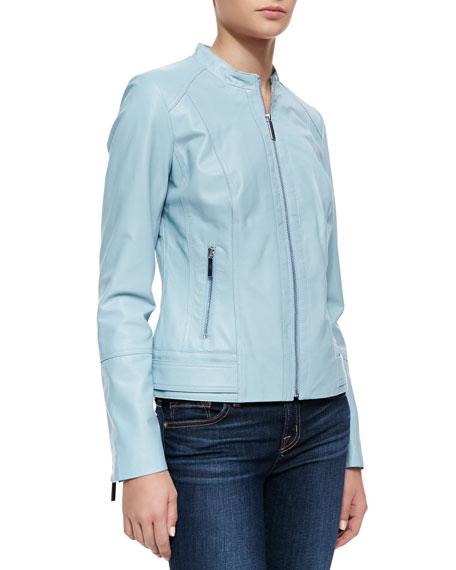 Neiman Marcus Tiered Sleeve Jacket, Light Blue