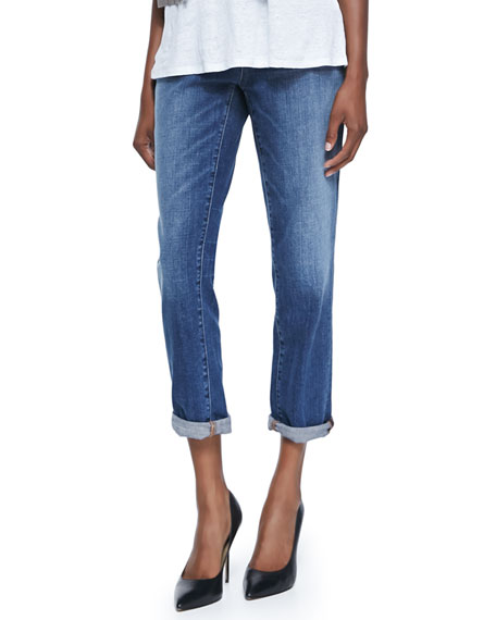 Eileen Fisher Stretch Boyfriend Jeans, Plus Size, Aged