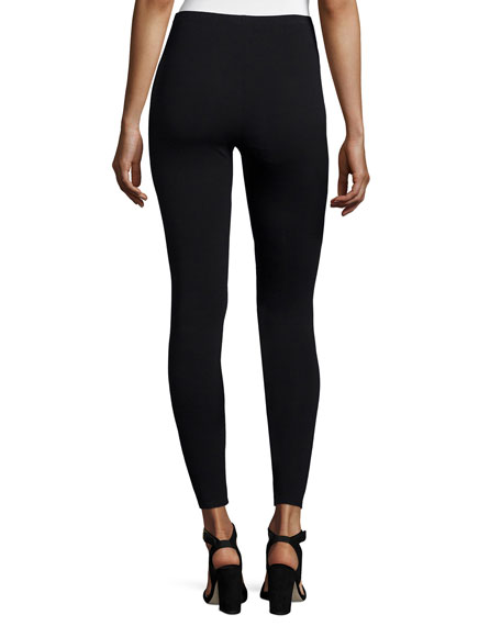 Viscose Jersey Leggings, Black