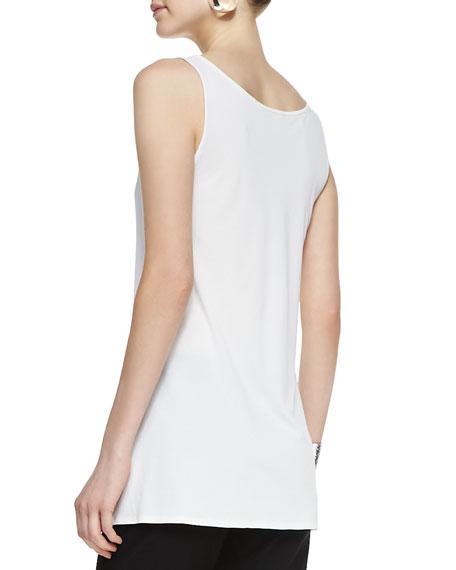 Long Silk Jersey Tunic, Plus Size