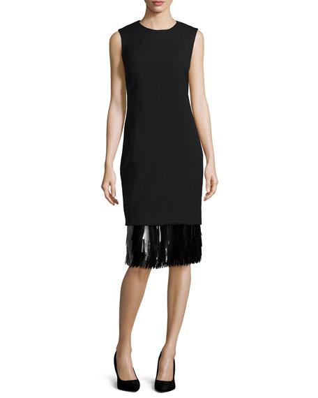 Sleeveless Sheath Dress, Black