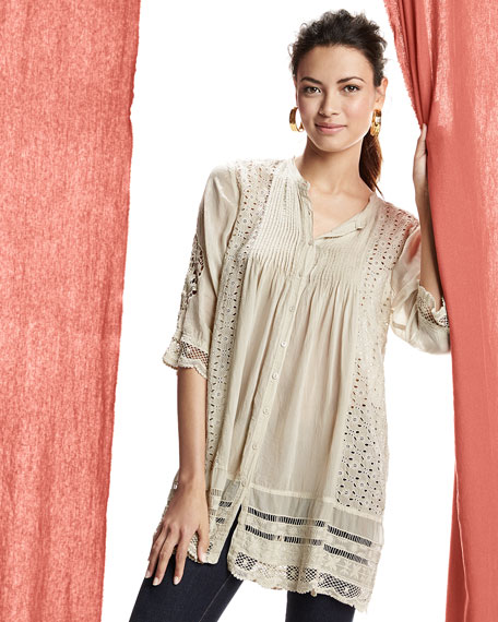 Melody Button-Front Tunic, Women's