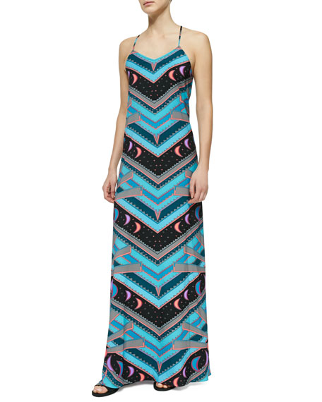 Jersey V-Neck Camisole Gown