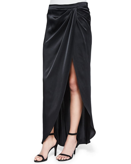 Haute Hippie Flowly Silk Skirt with Slit