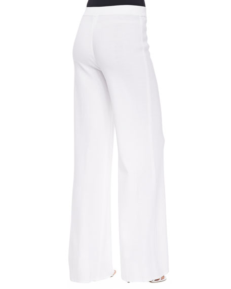 Plus Size Washable Wide-Leg Pants