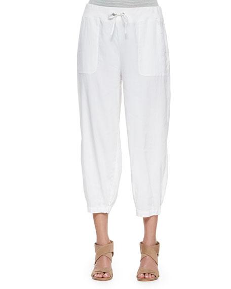 Eileen Fisher Drawstring-Waist Slouchy Capri Pants, Plus Size