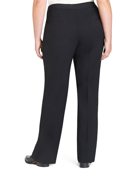 Menswear Straight-Leg Stretch-Wool Pants, Plus Size
