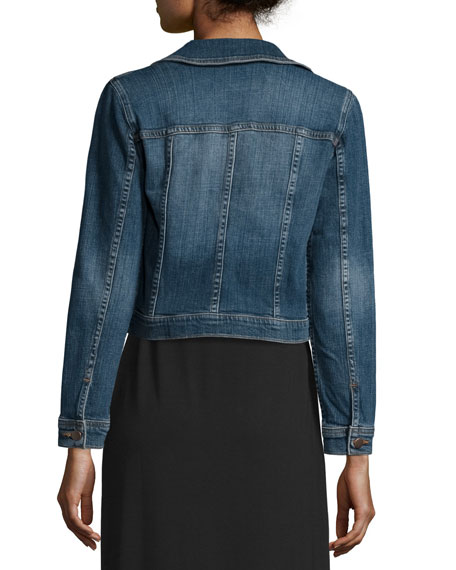 Denim Cropped Jacket, Plus Size