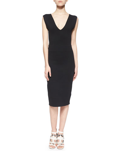 James Sleeveless Fitted Dress