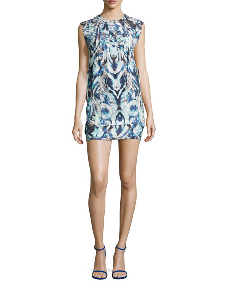 IRO Deinia Ribbed Abstract-Print Dress