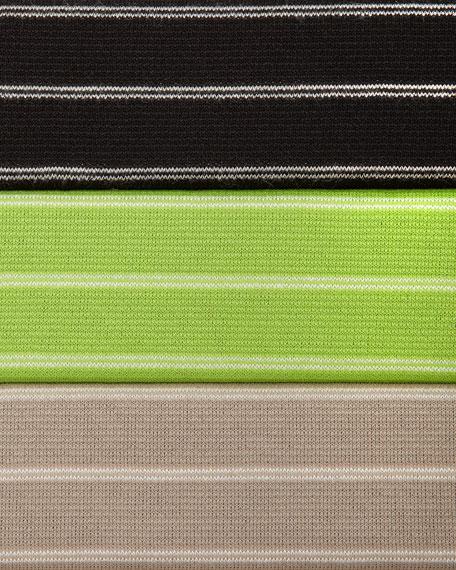 Bias-Striped Knit Tunic, Plus Size