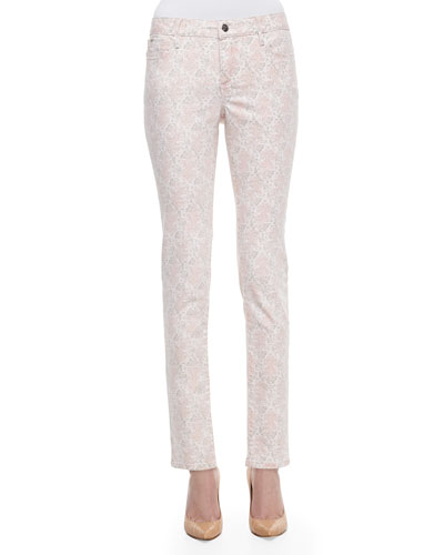 Zoe Floral-Print Ankle Jeans