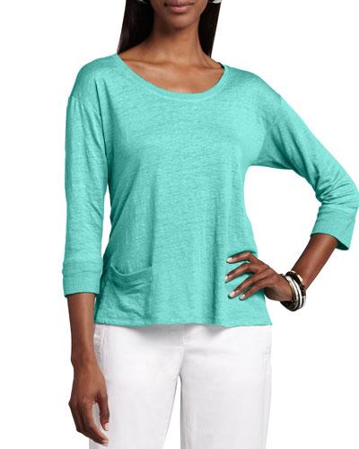 Linen Jersey Top