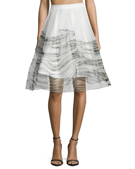 Alexis Anselmo Organza Black Wave Skirt