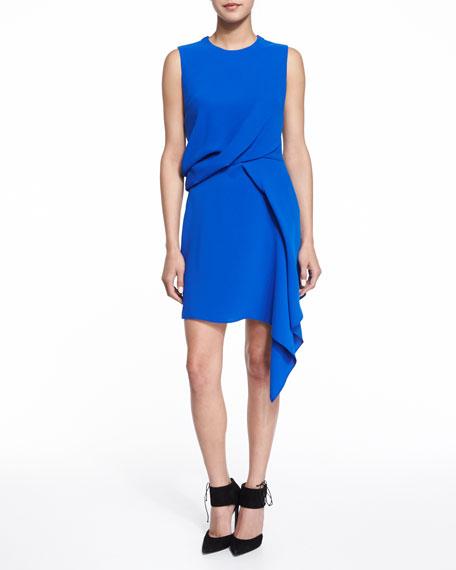 McQ Alexander McQueen Sleeveless Handkerchief Draped Dress