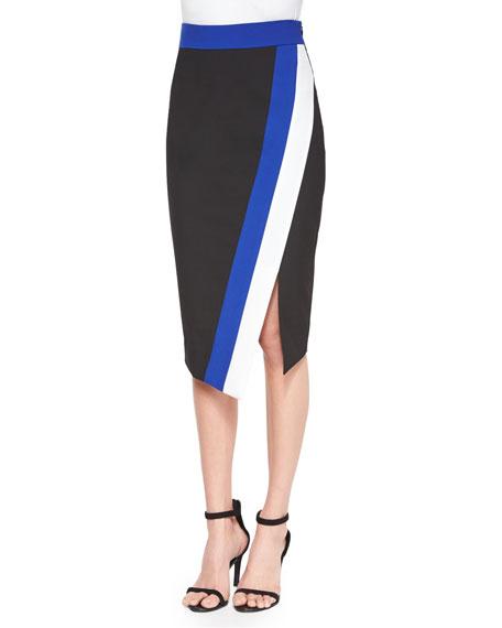 Doubleweave Colorblock Skirt, Multi Colors