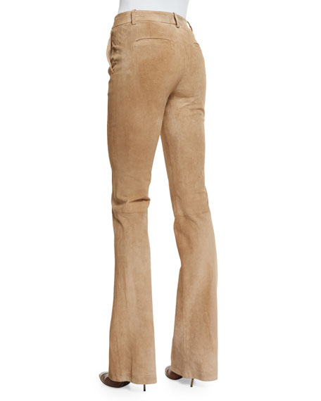 Ilayda Classic Suede Pants, Fawn
