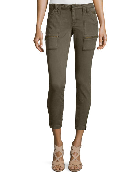 Joie Park Twill Skinny Cargo Pants, Fatigue