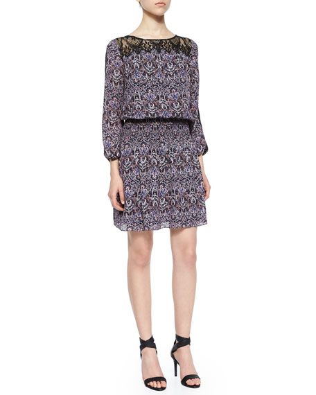 Joie Amedeo Modern Paisley-Print Dress