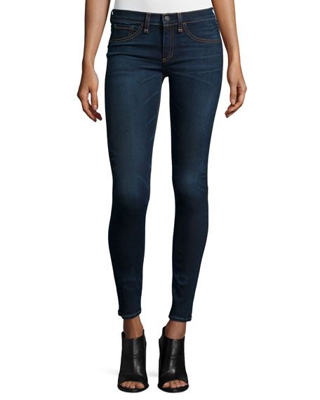 rag & bone/JEAN Low-Rise Skinny Jeans, Bedford