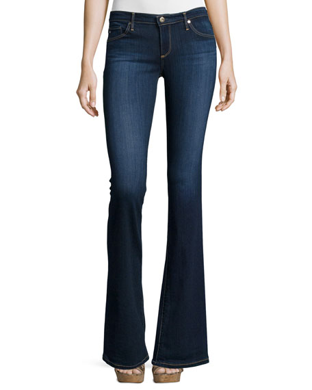 AG Angelina Petite Boot-Cut Jeans, Midnight Swim