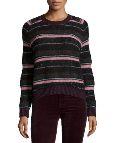 J Brand Jeans Ramona Striped Long-Sleeve Sweater, Multi Colors