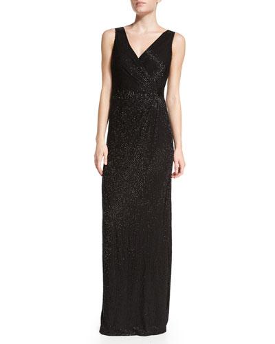 Diane von Furstenberg Lyndsey Maxi Wrap Dress, Black