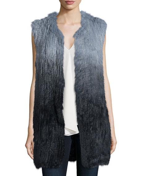 Theory Fadri Blithe Ombre Rabbit Fur Vest