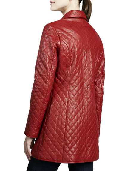 Neiman Marcus Quilted Long Leather Jacket : neiman marcus quilted leather jacket - Adamdwight.com