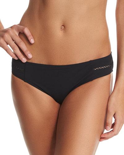 Lattice-Insert Hipster Swim Bikini Bottom