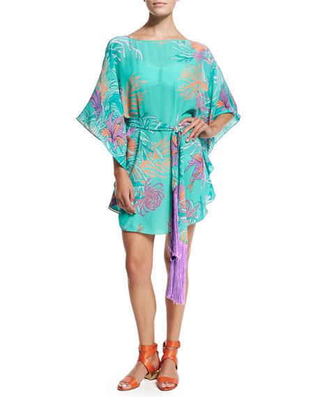 Romy Printed Caftan Coverup, Anemone