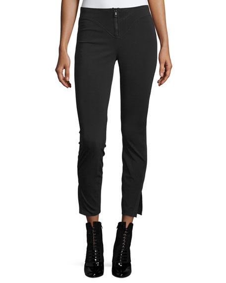 3.1 Phillip Lim Scuba-Knit Ankle Pants, Black