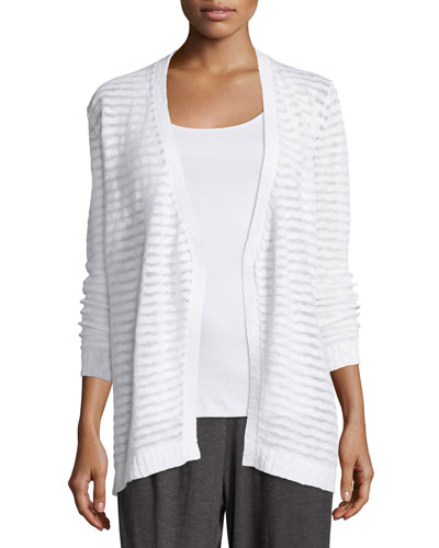 Boucle Shaped Cardigan, White