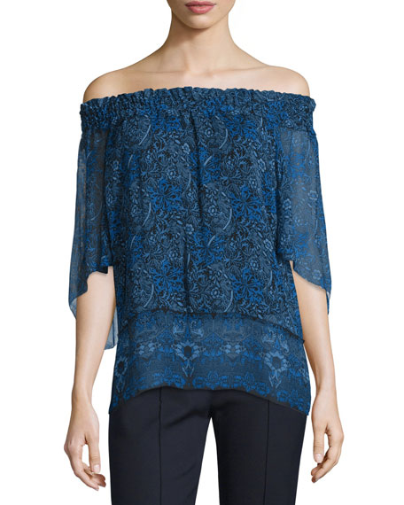 Elie TahariCalliope Off-the-Shoulder Blouse