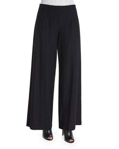 Washable Wide-Leg Pants, Women's