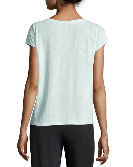 Cap-Sleeve Organic Cotton Hemp Twist Top